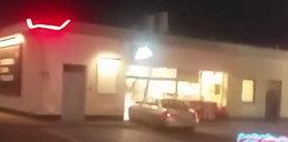 Groza w Rymaniu. Pokłóciła się z chłopakiem i zdemolowała stację paliw. Policja użyła broni. FILM!