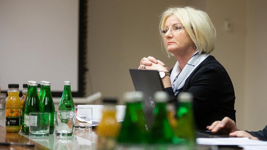 Na zdjęciu Barbara Rogowska - oskarżana o mobbing.