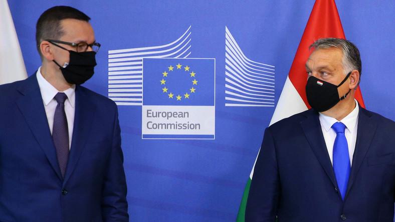 Premierzy Mateusz Morawiecki i Viktor Orban