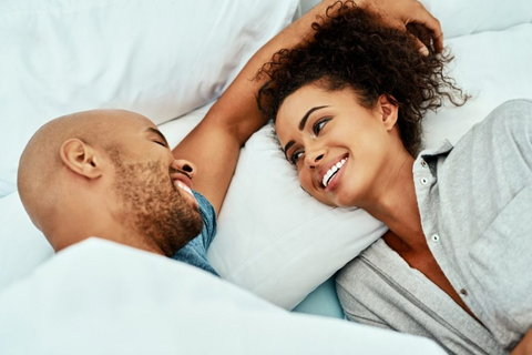 Being free enough to talk about sex with a partner is cool and that is the extent of intimacy all partners should aspire to. [Credit Madamenoire]