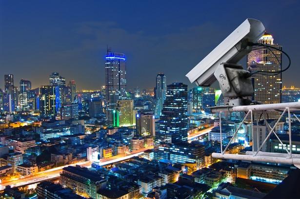 miasto, kamera, monitoring