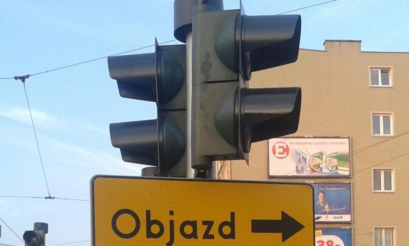 znak objazd