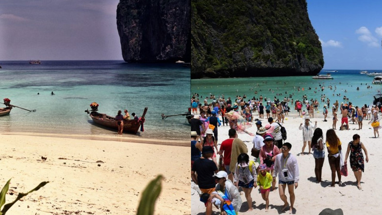 maya bay then and now