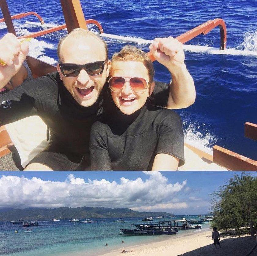 Borys Szyc i Justyna Nagłowska na Bali