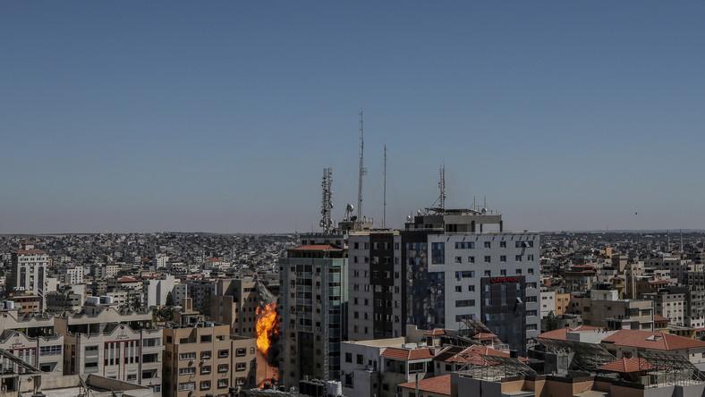 Atak na wieżowiec w Strefie Gazy