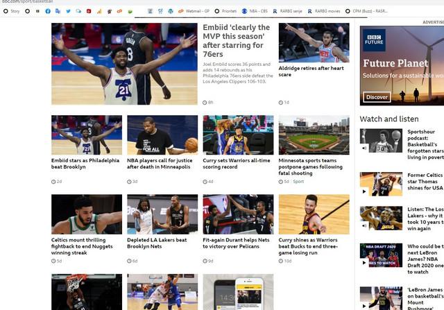 "Košarkaška rubrika BBC-a - Nikola Jokić na njoj ""ne postoji"""