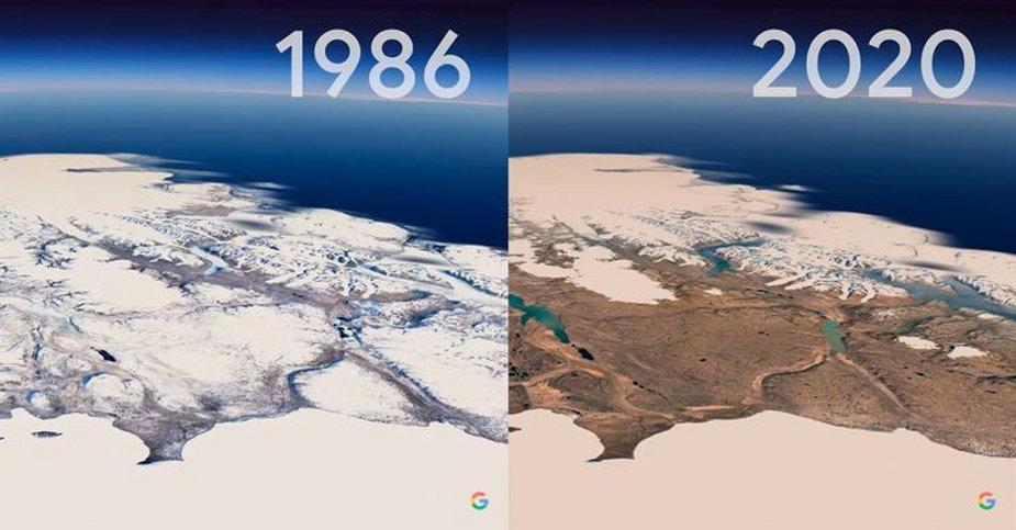 Timelapse, Google Earth
