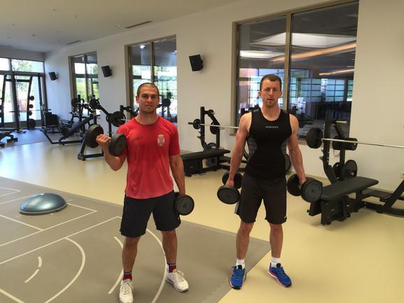 Tomićević i Zorić vredno vežbaju