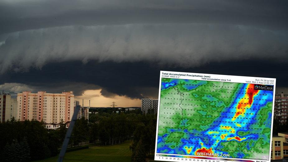 W weekend, zwłaszcza na wschodzie, południu i w centrum, przejdą ulewy i burze