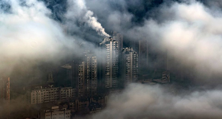 Užice, smog, magla, zagađenost vazduha