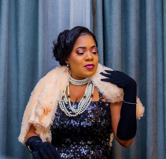 Toyin Abraham apparently is the celeb of the moment following the news of the arrival of her baby. What makes it more interesting is that her maternity photos have emerged and we are loving them [Instagram/ToyinAbraham]