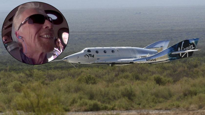 Richard Branson odbył pierwszy lot turystyczny w kosmos