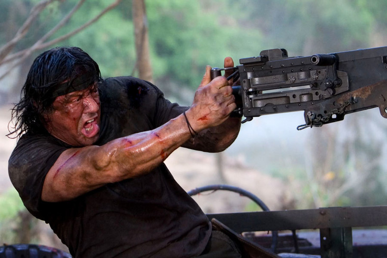 "Sylvester Stallone w filmie ""John Rambo"""