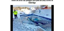 Nastolatki wjechały lexusem do basenu. Omal nie zginęły!