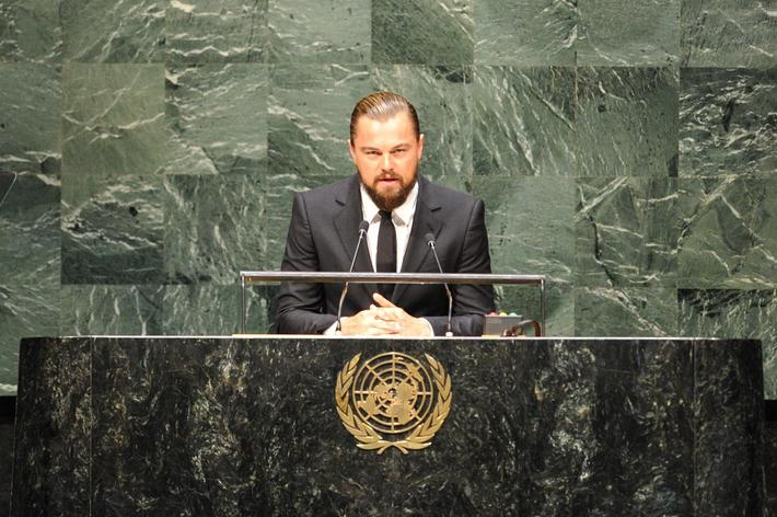 Leonardo DiCaprio Speaks at the U.N.