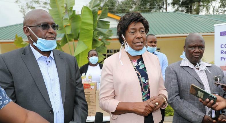 Kitui Governor Charity Ngilu during a recent press address
