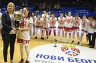 ZVEZDA JE ŠAMPION Pehar, skinuta mrežica i polivanje vodom: Ovako su slavile crveno-bele košarkašice /FOTO/