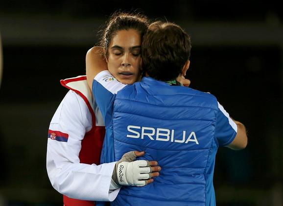 Milica Mandić i trener Dragan Jović