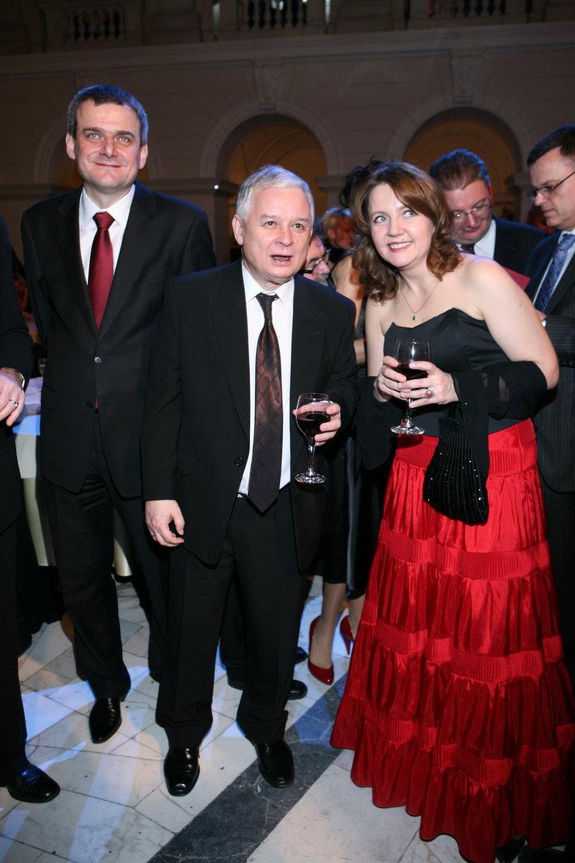 Lech Kaczyński i Joanna Lichocka