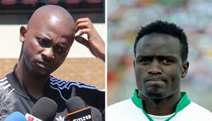 McDonald Mariga (right) has demanded the resignation of FKF President Nick Mwendwa (left).