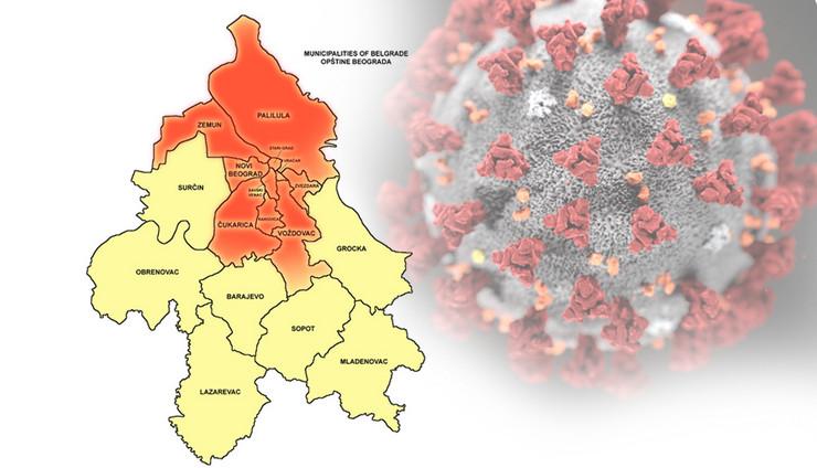 korona opštine beograda