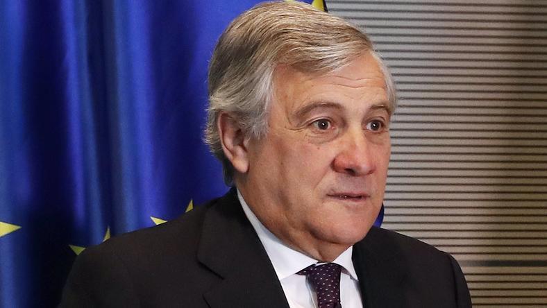 Przewodniczący Parlamentu Europejskiego Antonio Tajani