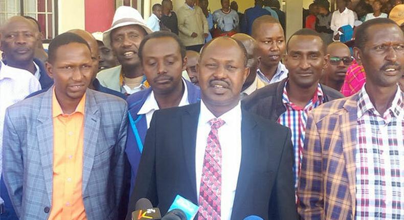 Samburu Deputy Governor Julius Leseeto (centre) at a past event