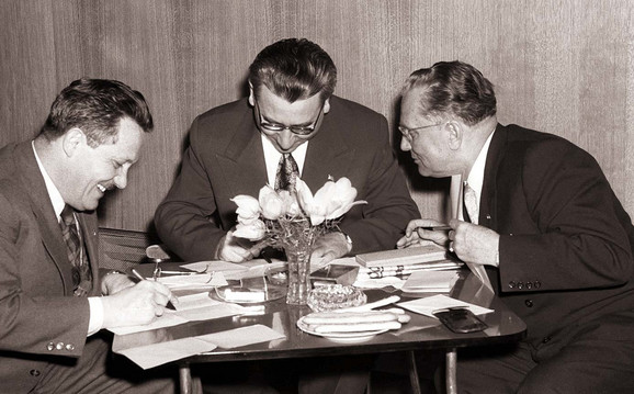 Edvard Kardelj, Aleksandar Ranković i Josip Broz Tito
