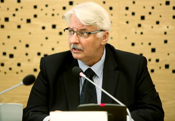 Witold Waszczykowski, szef MSZ, historyk, dyplomata i polityk