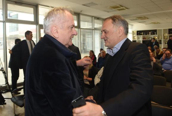 Predsednik Olimpijskog komiteta Srbije Božidar Maljković i prvi čovek Odbojkaškog saveza Zoran Gajić