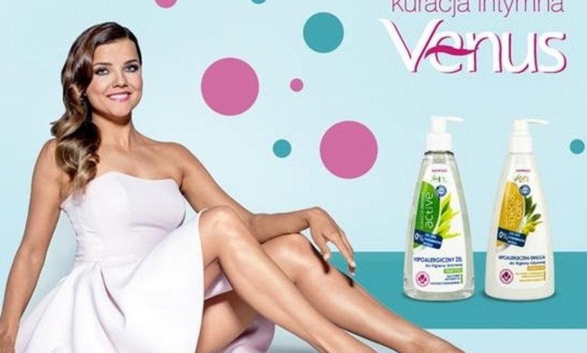 Joanna Jabłczyńska w reklamie płynu do higieny intymnej