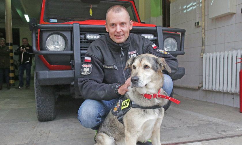 Aleksandrów Łódzki: Strażacy uratowali bezdomnego psa ze schroniska