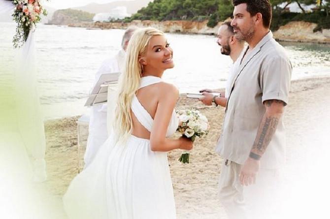 Nataša i Luka na dan venčanja