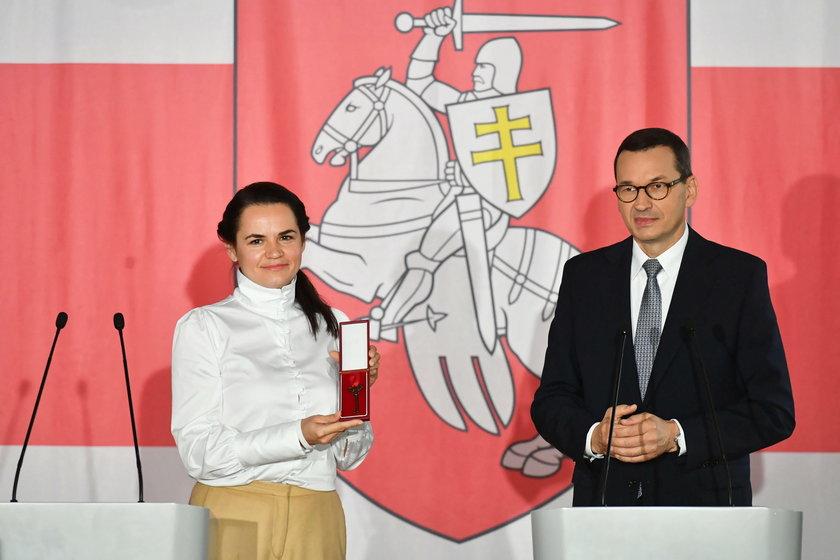 Morawiecki dał Cichanouskiej willę na Saskiej Kępie