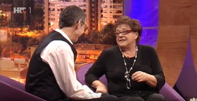 Glumica Vera Zima sa Masimom Savićem u emisiji na HRT-u