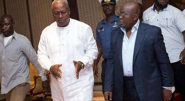 Report shows that Ghanaians perceived in 2015 that the then President, John Mahama was more corrupt compared to the current President, Akuffo Addo as the figures drop