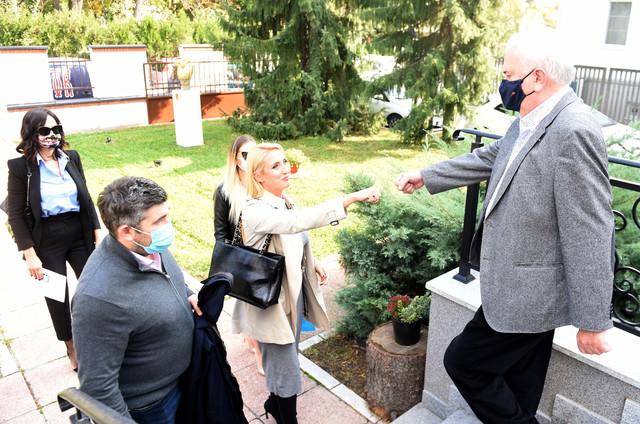 Božidar Maljković u Olimpijskoj kući dočekuje delegaciju Blica