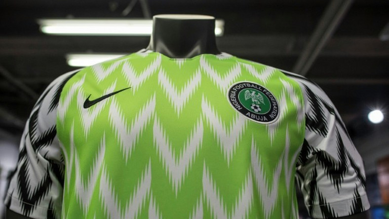 Nigeria's Super Eagles are wearing this jersey at the 2019 AFCON