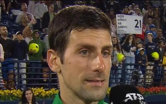Poruka navijačice za Novaka