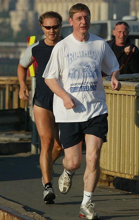 Gyurcsány Ferenc, a DK elnöke régebben sokat futott, aztán belustult, ám mostanában újrakezdte az edzést/ Fotó: RAS