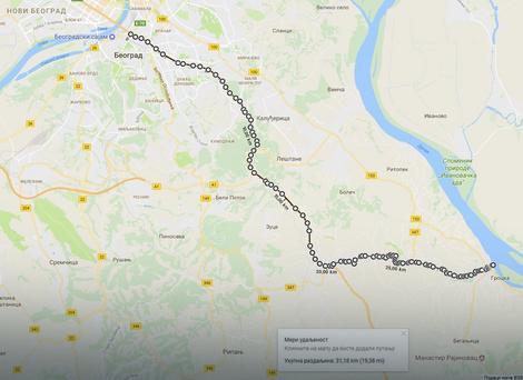 Put je dug oko 30 kilometara