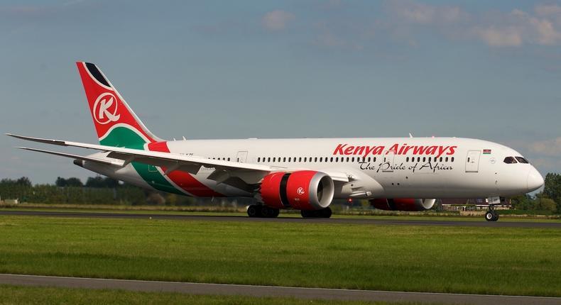 A Kenya Airways plane