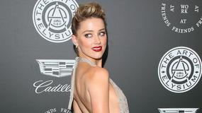 Przeraźliwie chuda Amber Heard wygina ciało na ściance. Nie pokazała za wiele?