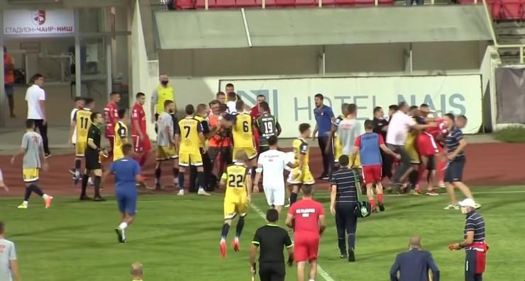 Incident na meču Radnički - Proleter