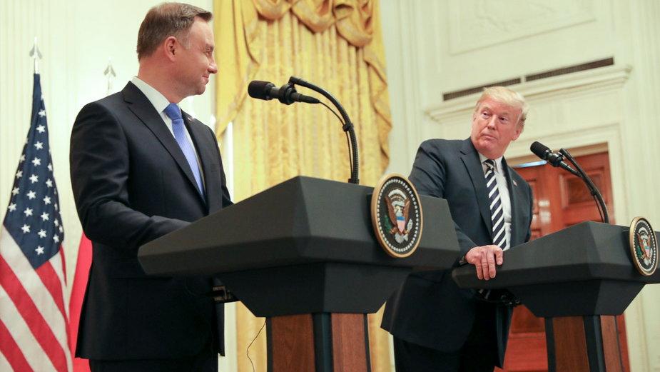 Andrzej Duda i Donald Trump (fot. Jakub Szymczuk / Kancelaria Prezydenta)