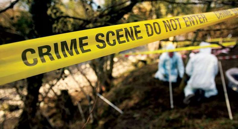 detectives at a crime scene