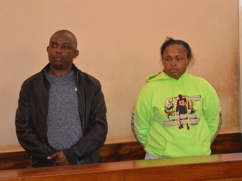 Joseph Kori (L) with Judy Wangui who are accused of killing Kori's wife Mary Wambui (Twitter)