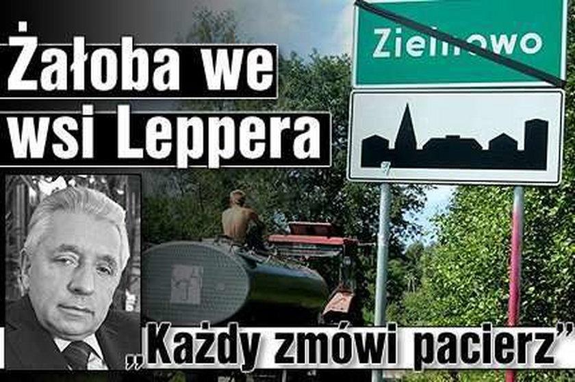 """Żałoba we wsi Leppera. """"Każdy zmówi pacierz"""""""