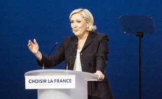 Media: Le Pen chce dla Francji 'równego dystansu' wobec USA i Rosji