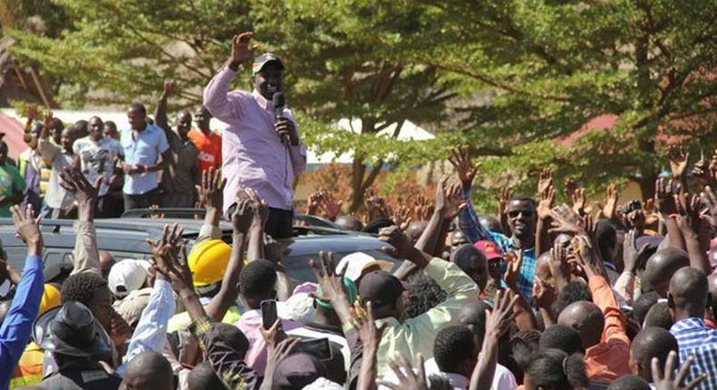 Deputy President William Ruto during a voter registration campaign in Webuye, Bungoma County, on January 23, 2017. He skipped a rally in Bungoma town after youths blocked him from entering the town centre.